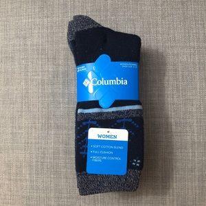 NWT Columbia Crew Socks - 2 Pack